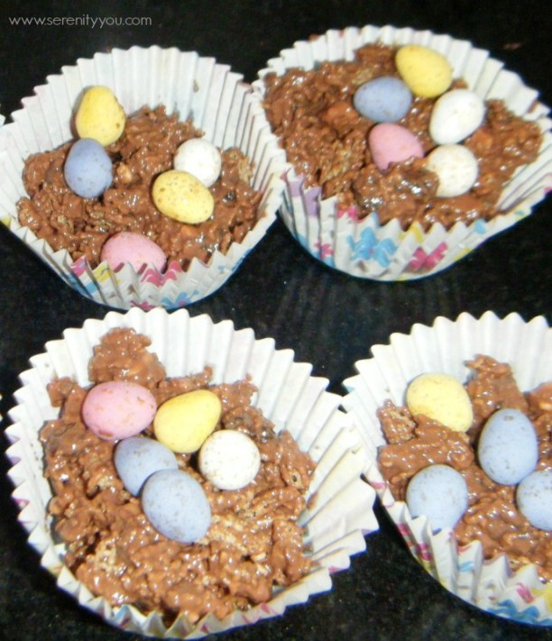 easter chocolate egg nests recipe