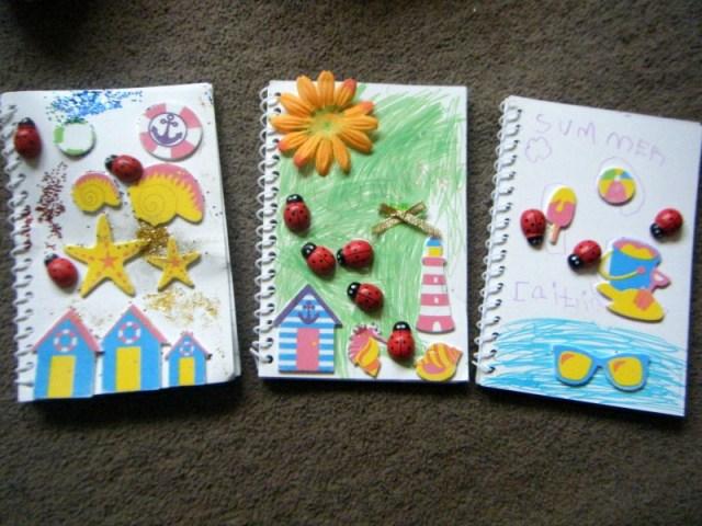 yellow moon summer diary's nootbooks
