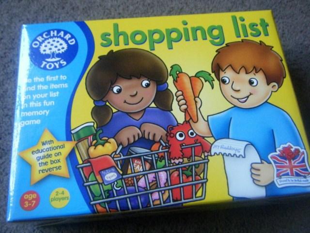 shopping list game 1