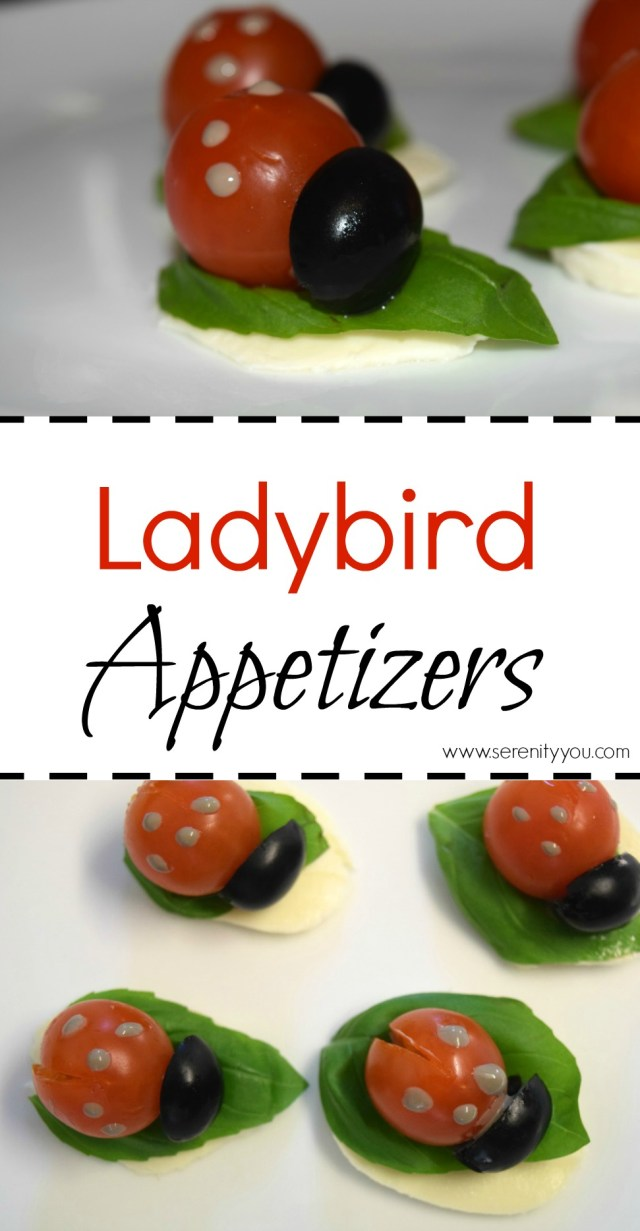 ladybird appetizers collage