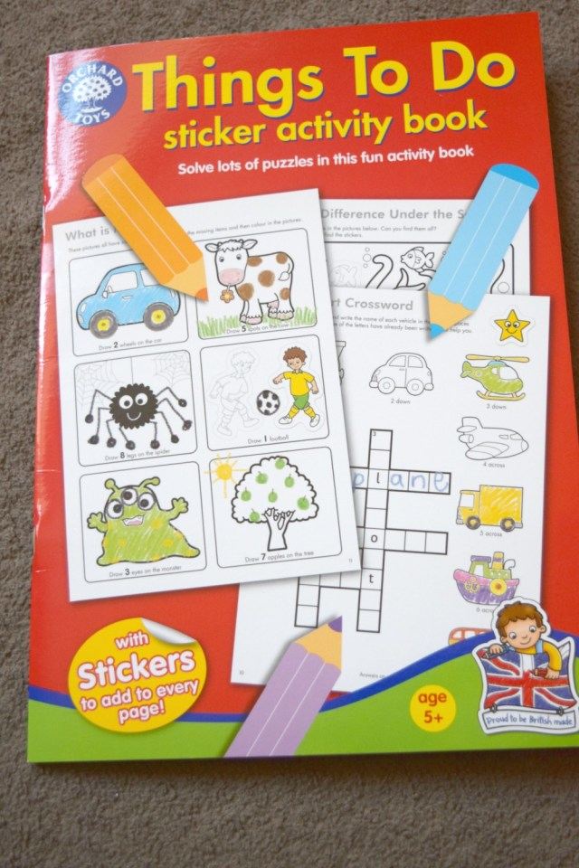 things to do activity book 1
