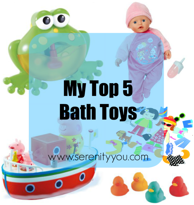 my top 5 bath toys