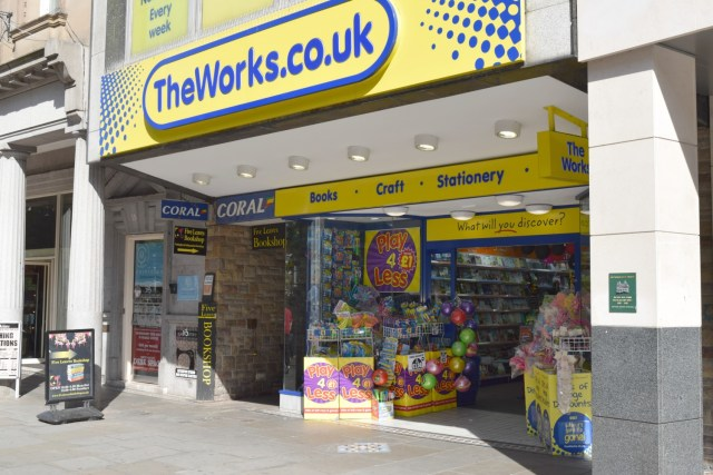 the works store front Nottingham
