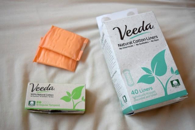 veeda tampons and liners