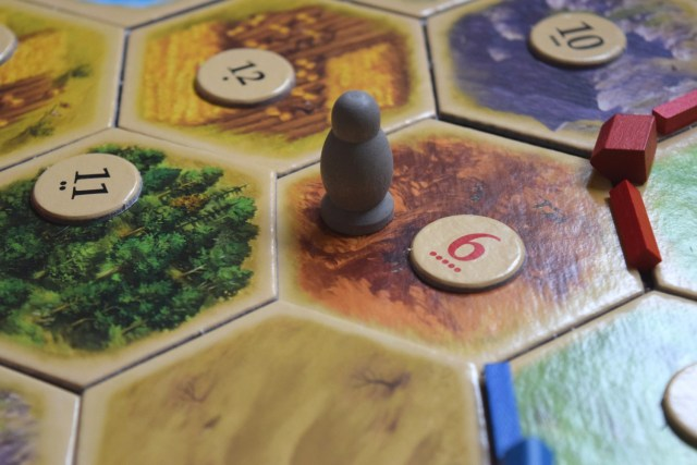 Catan game - the robber