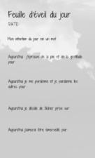 Page Carnet d'entrainement à l'éveil de Soi