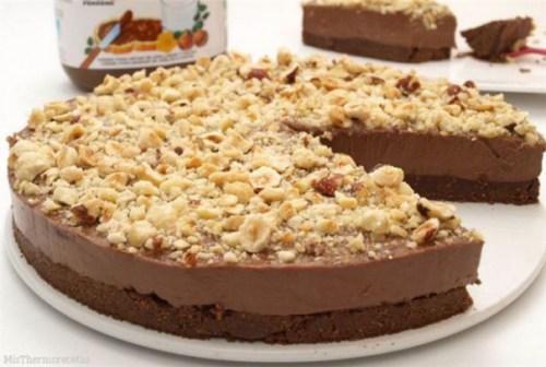 Πανεύκολο Cheesecake με Νutella χωρίς ψήσιμο!