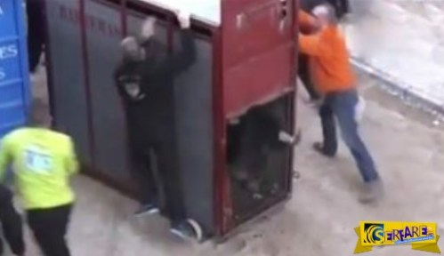 Όταν ο ταύρος δραπετεύει… Σκηνή πανικού από την Ισπανία! Δείτε το βίντεο …