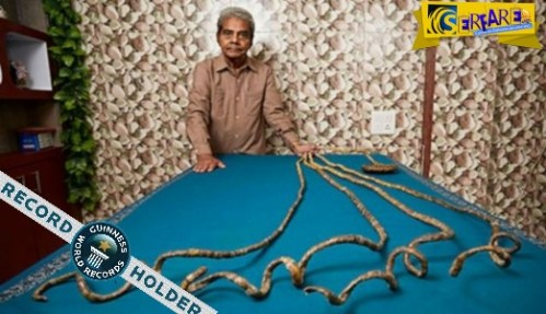 Ο άντρας με τα μεγαλύτερα νύχια στον κόσμο έχει να τα κόψει από το…1952!