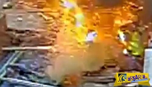 Τρόμος σε εργοτάξιο: Εργάτης κόβει καλώδιο 11.000 βολτ