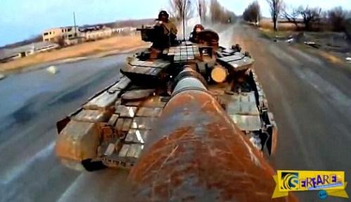 Ουκρανία: Selfie – stick σε τεθωρακισμένο – Απίστευτο βίντεο