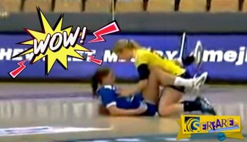 Tο «πιπεράτο» ατύχημα μεταξύ γυναικών που θα σας κάνει να λατρέψετε το χάντμπολ