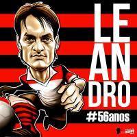 Leandro! Mais ídolo! ! Mais craque! Mais ser humano! Mais flamengo! Mais gênio!