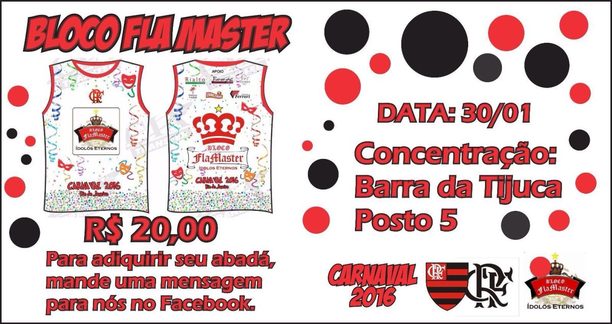 Participe do Bloco do Flamaster