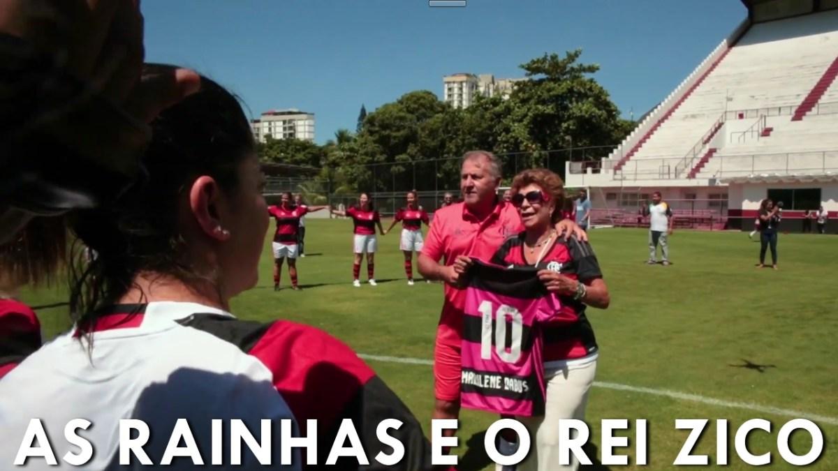 Fla Nação divulga vídeo de Zico em homenagem ao dia das mulheres na Gávea