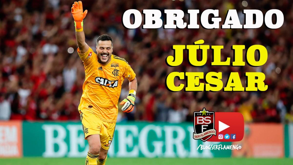 Flamengo 2x0 América-MG - Homenagem a Júlio César