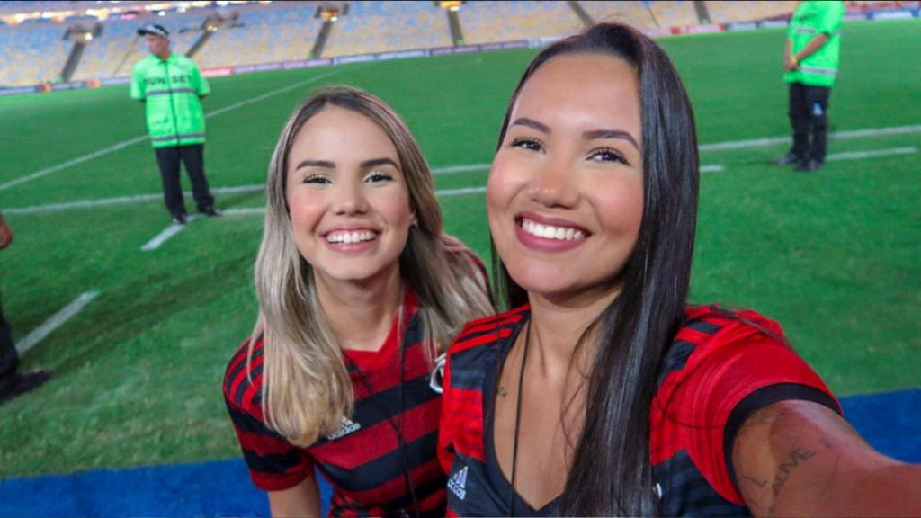 """Yanca e Bianca do """"Tô na Arquibancada"""" dizem que atualmente não há contato com a comunicação do Flamengo como antes"""