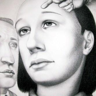 """Adieu,"" 2009, charcoal on paper, 65 x 40""."