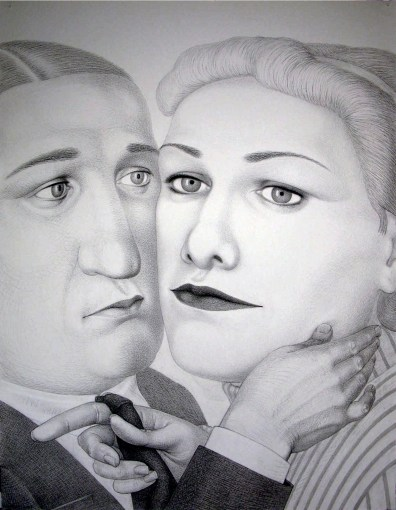 """During 20th Century,"" 2009, charcoal on paper, 60 x 46.5""."