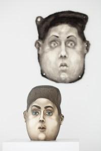 "Sergei Isupov, ""Sound in the Head"" 2018, stoneware, 12.5 x 9.5 x 8""."