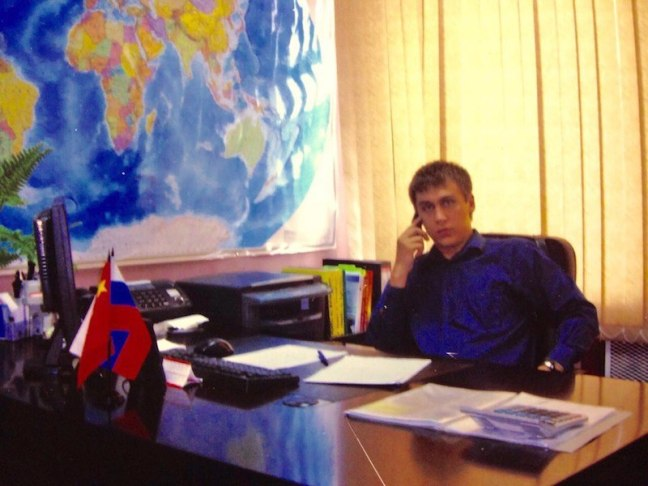 Дима в офисе TransitPlus
