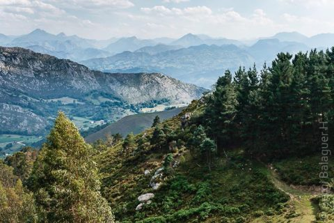 Los Picos de Europa desde el mirador del Fitu, Asturias