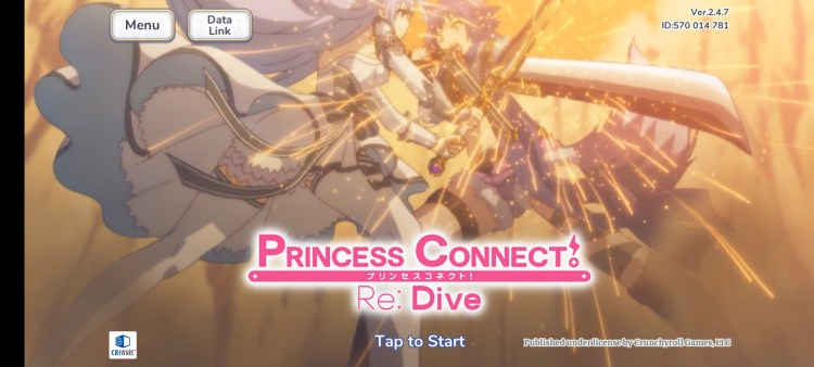 Princess Connect Re:Dive Title screen