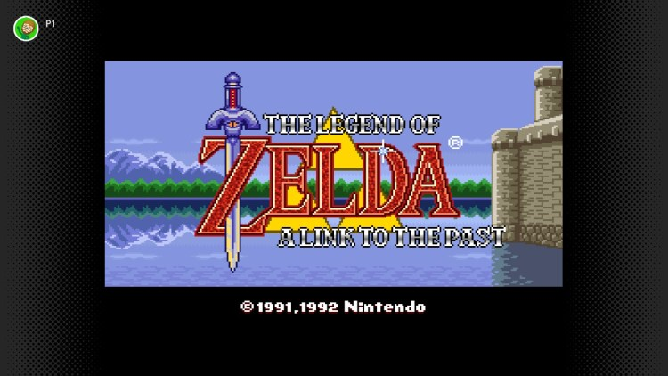 A Link to the Past title screen