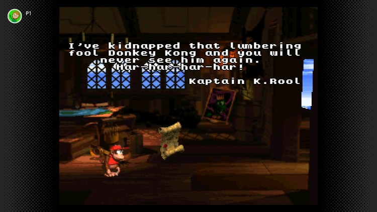 Donkey Kong Country 2 K Rool's note