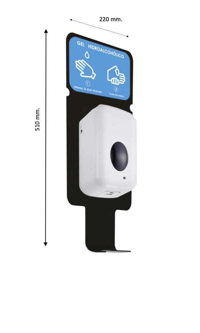 dispensador de gel automatico para pared