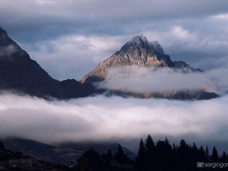 fog over the mountains NZ