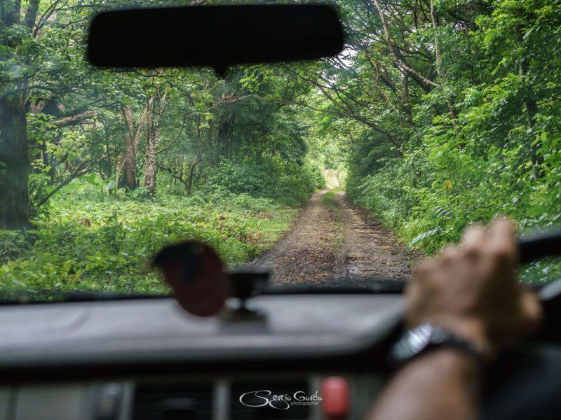 Conduciendo por los caminos de EUA en Tonga