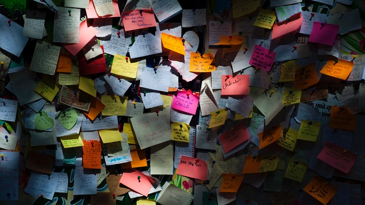 Post-it notes for multitasking