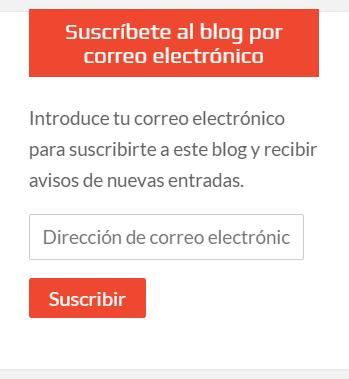 Caja de suscripción al web de Sergio Reyes