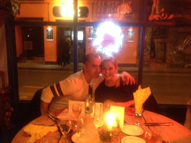 Louie Spence and Suzzane Shaw at Sergio's