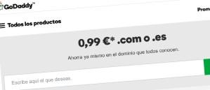 Promoción Godaddy .com y .es