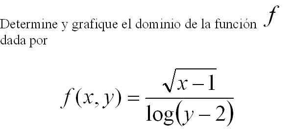DOMINIOS DE FUNCIONES DE DOS VARIABLES (5/5)