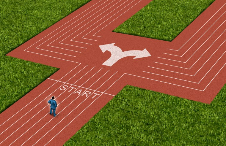 Businessman Crossroads