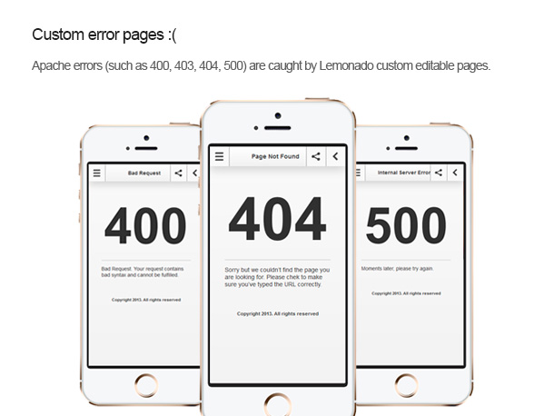 Error Pages