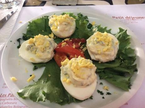 Oeuf mimosa Abidjan restaurant le Rallye Zone 3 Serialfoodie