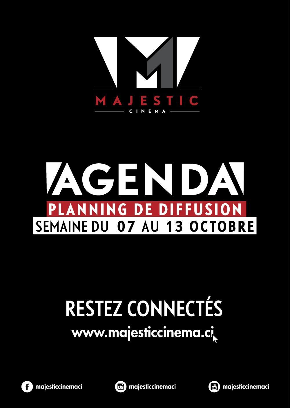 Programme du 7 au 13 octobre, Majestic, Abidjan, Serialfoodie