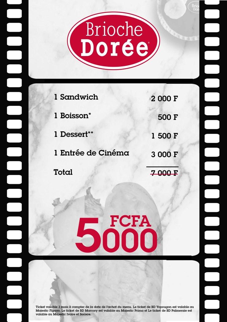 À la découverte de Formul'Ciné de Brioche Dorée, Abidjan, Cote D'ivoire, serial foodie