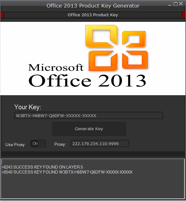 microsoft 2013 crack product key