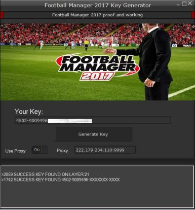 Football Manager 2017 Key Generator