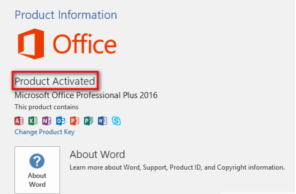 Microsoft Office Professional Plus 2016 Product Key 2020 100% Working