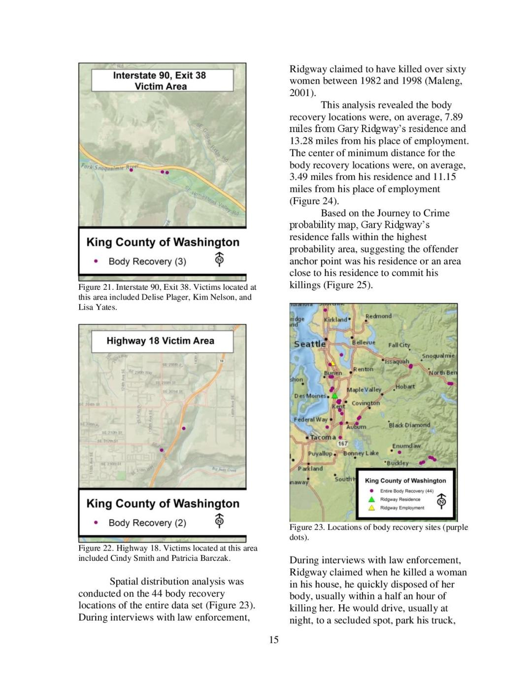 Gary Ridgway - Geographic Profiling Page 15
