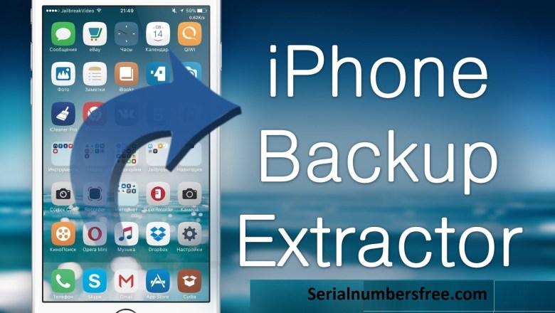 iPhone Backup Extractor 2020 Crack Full Keygen+Free Download