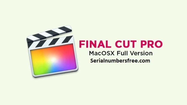 Final Cut Pro X 10.4.8 Crack Full Torrent Download