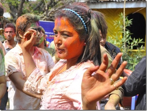 rekha-in-holi