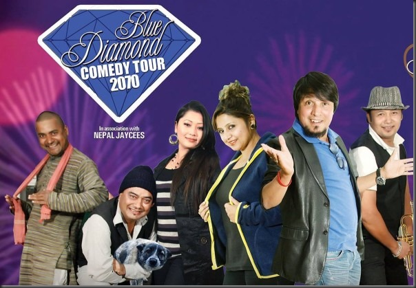 blue diamond comedy tour poster